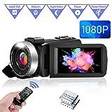 Videocamera Videocamere FHD 1080P 30FPS IR per Visione Notturna Videocamere Digitale con Zoom...