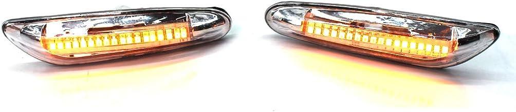 2 Pezzi Fumo LED Indicatore di Direzione Lampada per BMW Serie 3 E46 E60 E90 E92 E93 E87 KKmoon Luce di Posizione Laterale