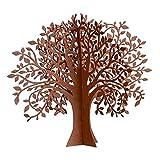 UNUS Garden Rost Deko Baum, Gartendeko Edelrost, Tischdeko Metall Rostoptik, 2 Steckelemente (Klein)