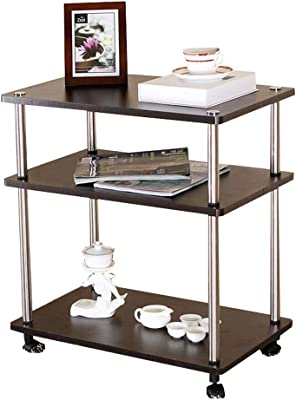 Square Small Coffee Table Removable Table with Wheels Living Room Simple Modern Coffee Table Storage Rack (Color : B)