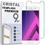 REY Protector de Pantalla para Samsung Galaxy A5 2017, Cristal Vidrio Templado Premium