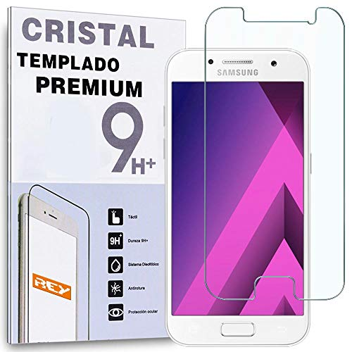 REY Protector de Pantalla para Samsung Galaxy A5 2017, Cristal Vidrio Templado...