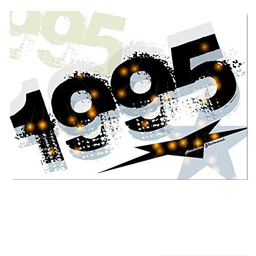 DigitalOase Glückwunschkarte Jahrgang 1995 25. Geburtstag A5 Geburtstagskarte Grußkarte Klappkarte Umschlag #WALK