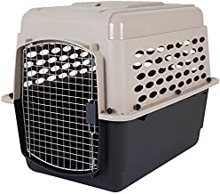Petmate 21948 Vari Kennel Heavy-Duty Dog Travel Crate No-Tool Assembly, 30-50 lb., Bleached Linen