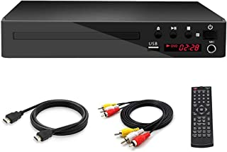 GWX Home HD HDMI DVD Player, CD Player, Support DVD VCD CD Multiple Play Modes for Living Room Bedroom DVD Playback