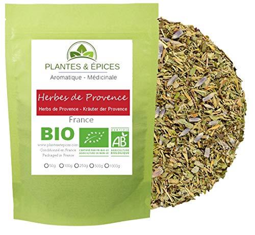 Plantes & Epices - Herbes de Provence BIO, intensément aromatique et sans additifs - Sachet Fraîcheur Biodégradable Refermable (100g)