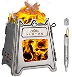 OAKVUE Foldable Camping Stove – Ultralight Backpacking Stove – Stainless Steel Camping Stove –...