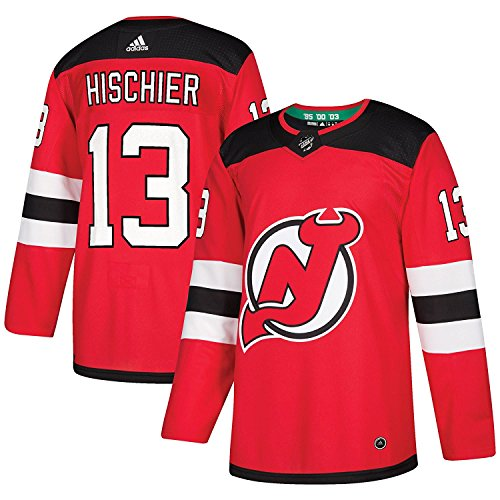 adidas New Jersey Devils Nico Hischier Authentic Pro Jersey Red (XL/54)