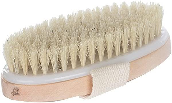 Massage corporel Brosse Bain Brosse Bois Brossage sec Brosse pour corps Cellulite Massager Doux outil pinceau exfoliant Doux peau eclatante Brosse naturelle Brosse