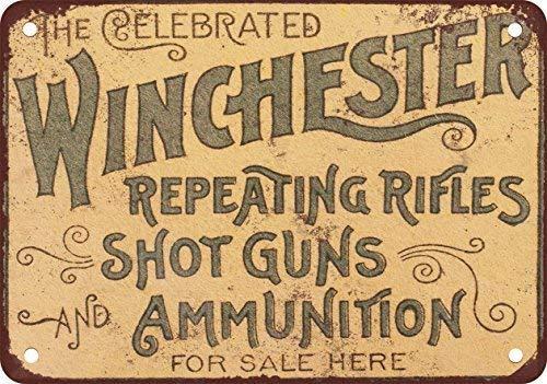SIGNCHAT 1897 Rifles de Winchester Blechschild, 20,3 x 30,5 cm