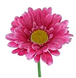 6 x Artificial Single Stem Hot Pink Gerbera with Big Bloom - very dramatic - home garden