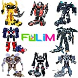 8 Pcs Mini Car Robot Toys, Small Action Figures, 3.5-inch Deformation Hero Bots, Birthday Favors Toys for Kids Age 5 and up.