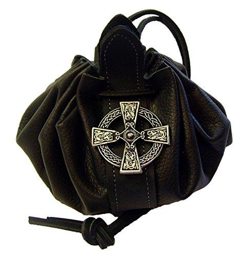 Lederbeutel Dukatenbeutel Geldkatze Farbe schwarz Scotish Cross