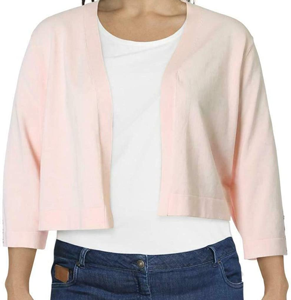 Tommy Hilfiger Womens Pink Button-Detail Long Sleeve Open Cardigan Wear to Work Sweater Size 1X