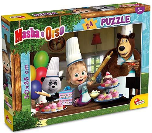 Lisciani Giochi - Masha Puzzle Plus 24, Tutti Insieme Impariamo! Puzzle per Bambini, 86078