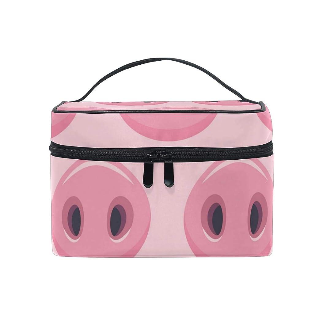 抑制意図モンスターAkiraki 化粧ポーチ 大容量 おしゃれ かわいい メイクボックス 機能的 豚 ピンク 可愛い かわいい ポーチ 小物入れ メイクポーチ 仕切り 仕分け 収納バッグ 収納ケース 化粧バッグ 旅行 出張 コンパクト 軽量 ファスナー 持ち運び便利
