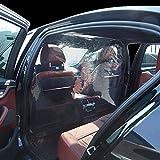 TERMALY Película Protectora del Automóvil Protección Transparente, Protección contra El Humo, Saliva para El Conductor y El Pasajero Delantero,A