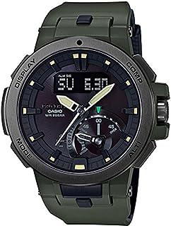 [カシオ]CASIO プロトレック メンズ コレクションボックス付 タフムーブメント ソーラー電波時計 アナデジ カーキ 20気圧防水 充実機能 PRW-7000-3JF 腕時計[並行輸入品]