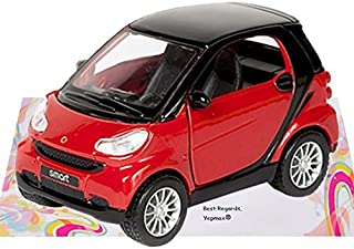 Yepmax Car Toys Smart Fortwo Model Cars 3 X 1.8 X 1.8 Inch (Red)
