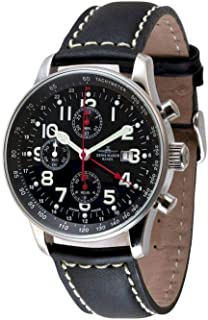 Zeno Watch Basel - Zeno-Watch P753TVDGMT-a1 - Reloj de pulsera para hombre, cronógrafo, talla XL