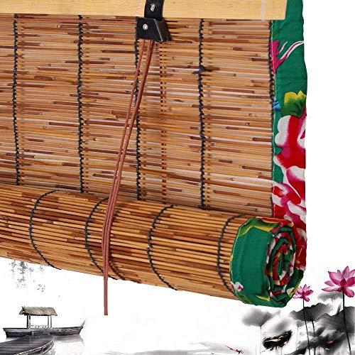 Persianas de Bambú Persianas Romanas de Bambú Persianas Persianas Listones Verticales Ventana a la Terraza Persianas Terraza Balcón Personalizable Disponible en Varios Tamaños (Size : 80x170cm)