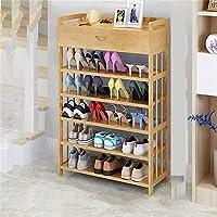 家具装飾靴オーガナイザー/無垢材靴ラックシンプルな靴キャビネットシンプルで経済的な省スペース家庭用アセンブリ多機能防塵靴ラック引き出し付きフラット長さ70cm靴ラック
