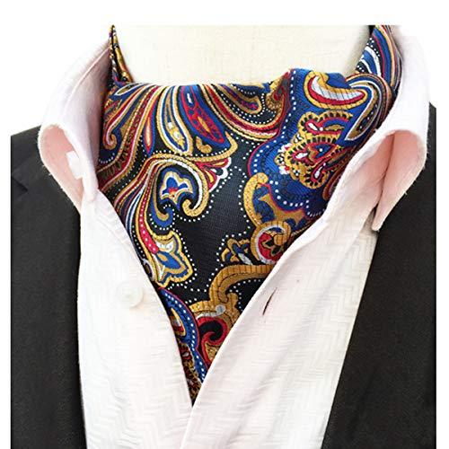 YianBestja - Corbata para hombre, cachemira, Ascot
