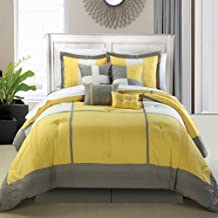 Chic Home Dorchester 8-Piece Comforter Set, Queen, Yellow