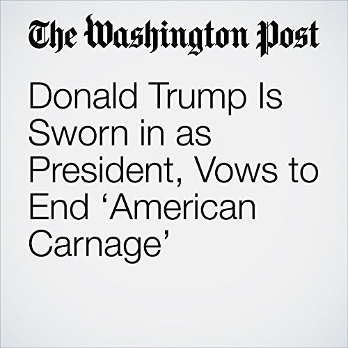 Donald Trump Is Sworn in as President, Vows to End 'American Carnage' copertina