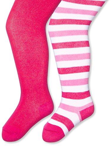 Julius Hüpeden GmbH Twins Baby - Mädchen Strumpfhose im 2er Pack, Gr. 68, Rosa (pink 230)