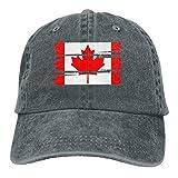 Desconocido Hombres Mujeres Pantalones Vaqueros Ajustables Gorras de béisbol Gorra de Hiphop con Bandera de Canadá