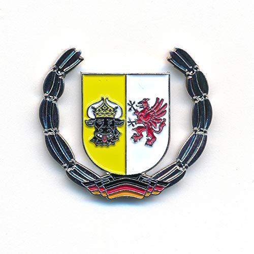 hegibaer Mecklenburg-Vorpommern Wappen Schwerin Deutschland Badge Pin Anstecker 0919