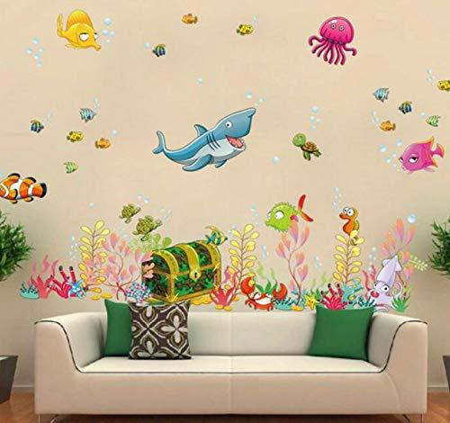 Kyzaa Muurstickers, onderwaterwereld, afneembaar, voor woonkamer, kinderen, slaapkamer, decoratie, modern design