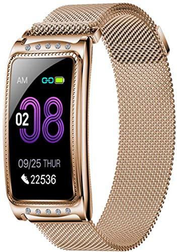 TIANYOU Pulsera Inteligente, F28 Relogio Smart Watch Women Presión Arterial Moda Fitness Tracker Muñeca de Salud Smartwatch Feminino para Android Ios Moda/Gold