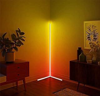 YRBDSA RGB Lampadaire, 20W LED Lampadaire d'angle Éclairage décoratif Lampe Debout Luminosité des Couleurs RVB réglable av...