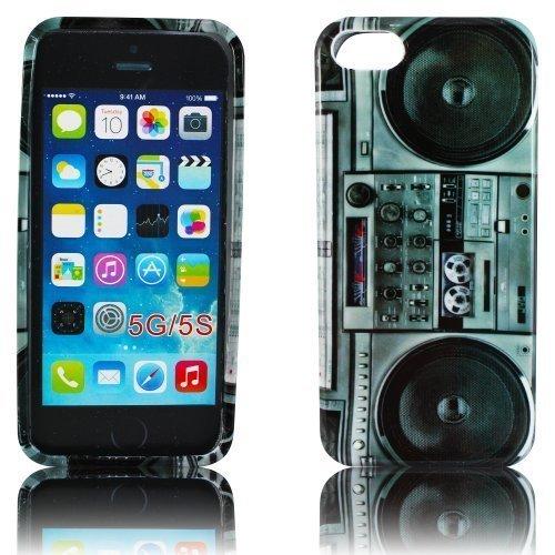 thematys Apple iPhone 5 5S Silikon TPU Ghettoblaster Design Handy Schutz-Hülle Case Tasche Schale Etui Cover