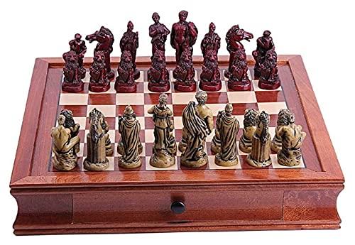 Juego de ajedrez Conjunto de ajedrez Juego de ajedrez con Piezas de Almacenamiento portátil Viajes Juego Internacional Juguetes Regalo Tablero de ajedrez (Size : 42x42x8cm)