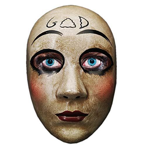 Máscara de Purga de Terror Gris de Dios Gris para Hombres, la película The Purge Anarchy, Fiesta de Disfraces de Disfraces de Halloween, se Adapta a la mayoría de los Adultos y Adolescentes