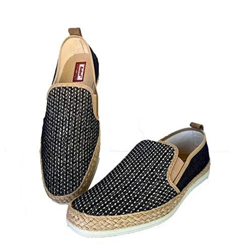 Fabricación española - Zapatillas Rejilla Elegantes de Caballero cómodas con Esparto (Numeric_46)
