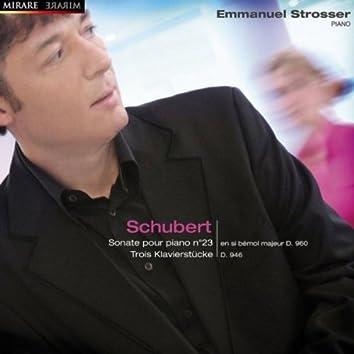 Schubert: Sonate pour piano No. 23, 3 Klavierstücke