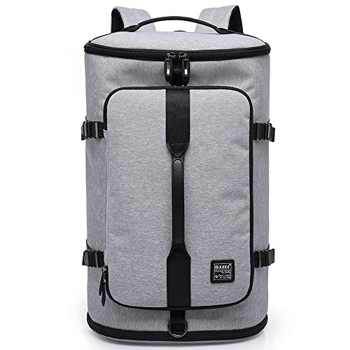KAKA Travel Duffel Backpack, Gym Backpack Outdoor Travel Bag with Shoe Compartment, Weekender Overnight Convertible Bag Water-Resistant College Laptop Bookbag Hiking Camping Rucksack…