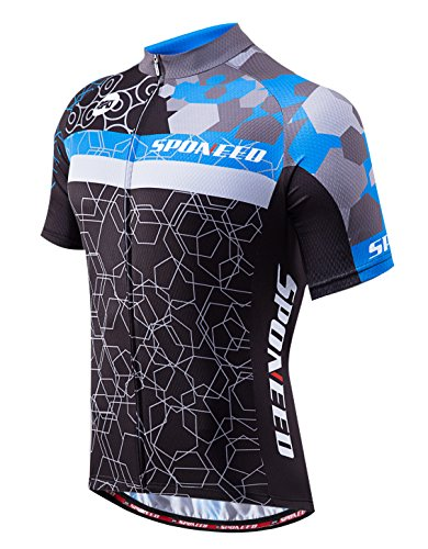 sponeed Men's Cycle Jerseys Full Zipper Bicycle...