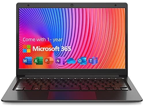 Jumper Portátiles 11.6 Pulgadas, Microsoft Office 365, 4GB+64GB Laptop, Intel Pentium N3700, HD Graphics, Windows 10, Bluetooth 4.2, Compatible con expansión de Tarjeta TF de 128GB