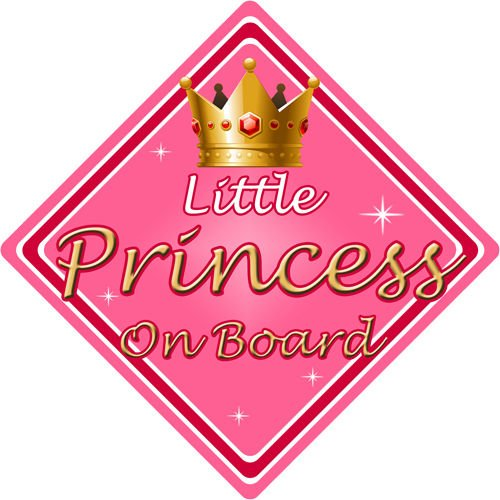 non personnalisé enfant/Baby on Board ~ Little Princess On Board ~ Rose