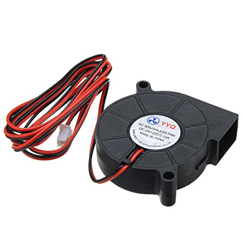 ILS - DC24V ventola raffreddamento ultra silenzioso turbina piccola DC Blower 5015 Per stampante 3D Circuit Board