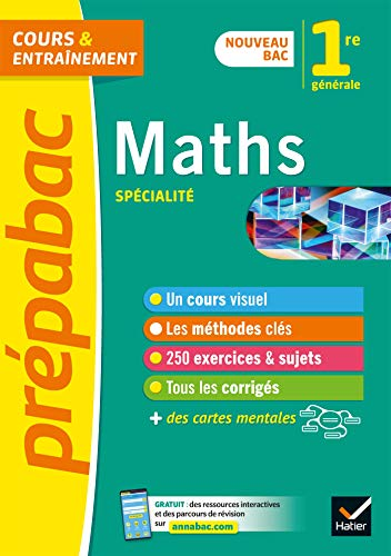 Prépabac Maths 1re générale (spécialité): nouveau programme de Première