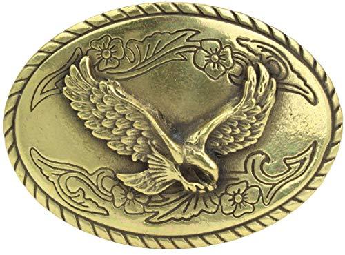 Gürtelschnalle Adler 4,0 cm | Buckle Wechselschließe Gürtelschließe 40mm Massiv | Wechselgürtel bis 4cm | Altmessing