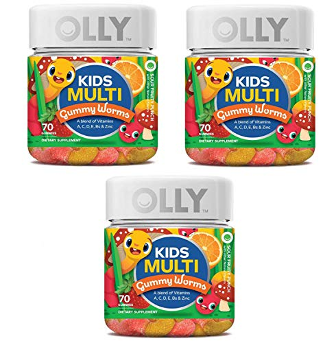 Olly Kids Multivitamin Gummy! 70 Gummies Sour Fruity Punch Flavor! Blend of Daily Vitamins and Minerals! Help Fill Any Nutritional Gaps and Promote Overall Wellness! Choose Your Pack! (3 Pack)