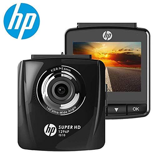 HP 1296P DashCam Autokamera Full HD DVR Rekorder und G-Sensor Nachtsicht, Automatische Loop-Zyklus Aufnahme, Bewegungserkennung, Bewegliches Objektiv, Parkmonitor