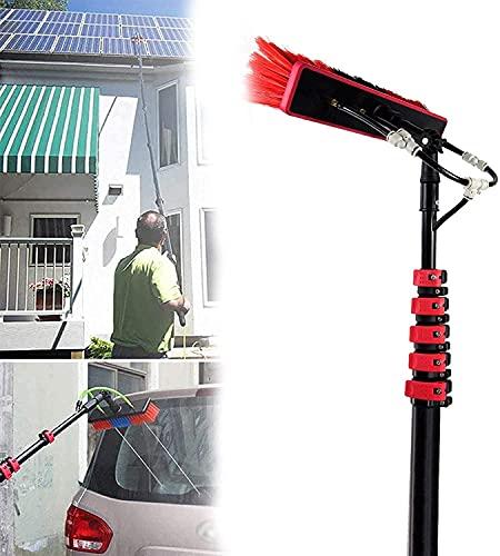 XJYDS Kit de limpieza de ventanas de paneles solares, kit de lavado de ventanas con poste de extensión 3.6-11 m, usado para limpiar paneles solares, edificios de gran altura y vehículos grandes, 36 pi